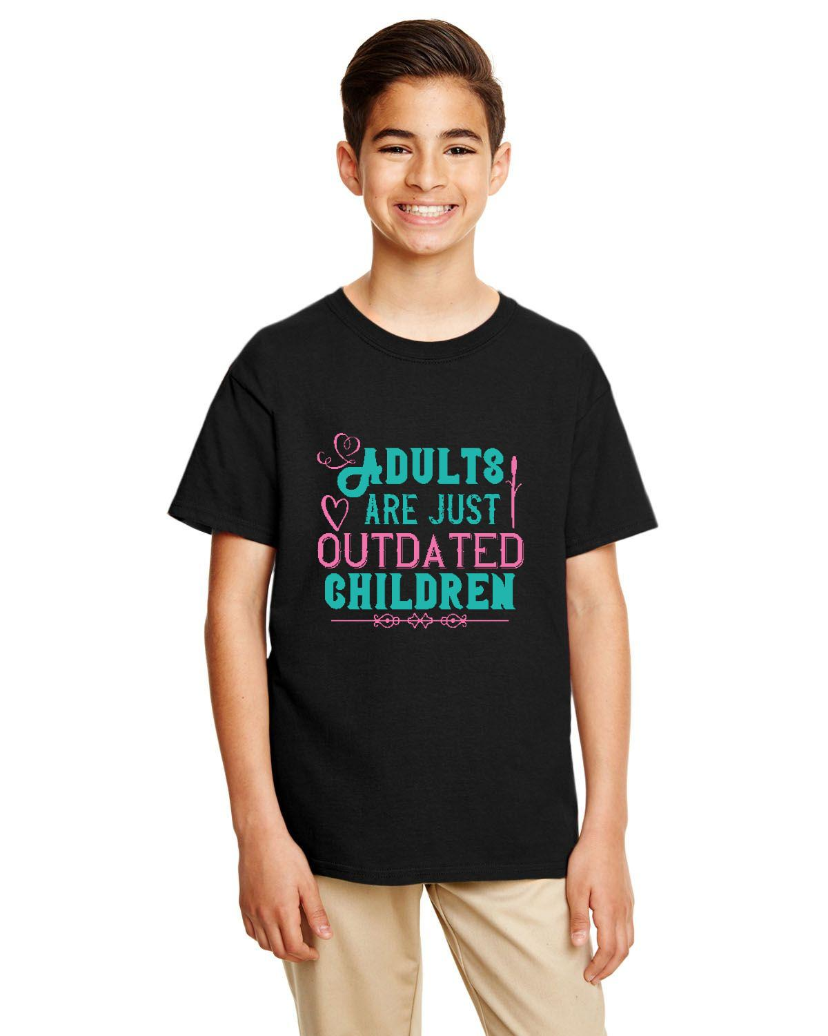 Adults are Out Dated Children Gildan Youth Softstyle – free shipping