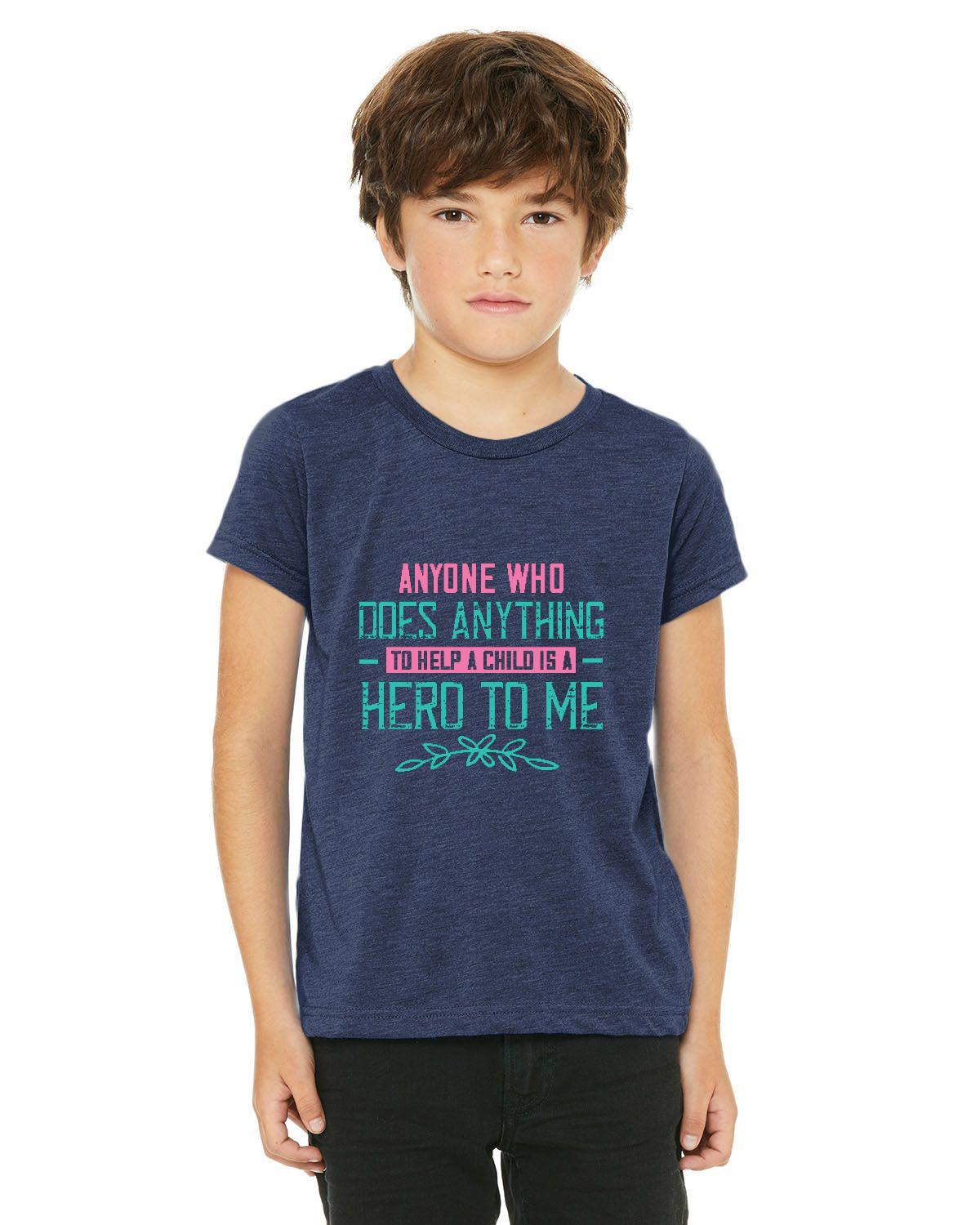 HERO TO ME Bella + Canvas Youth Triblend Short-Sleeve T-Shirt – Free Shipping