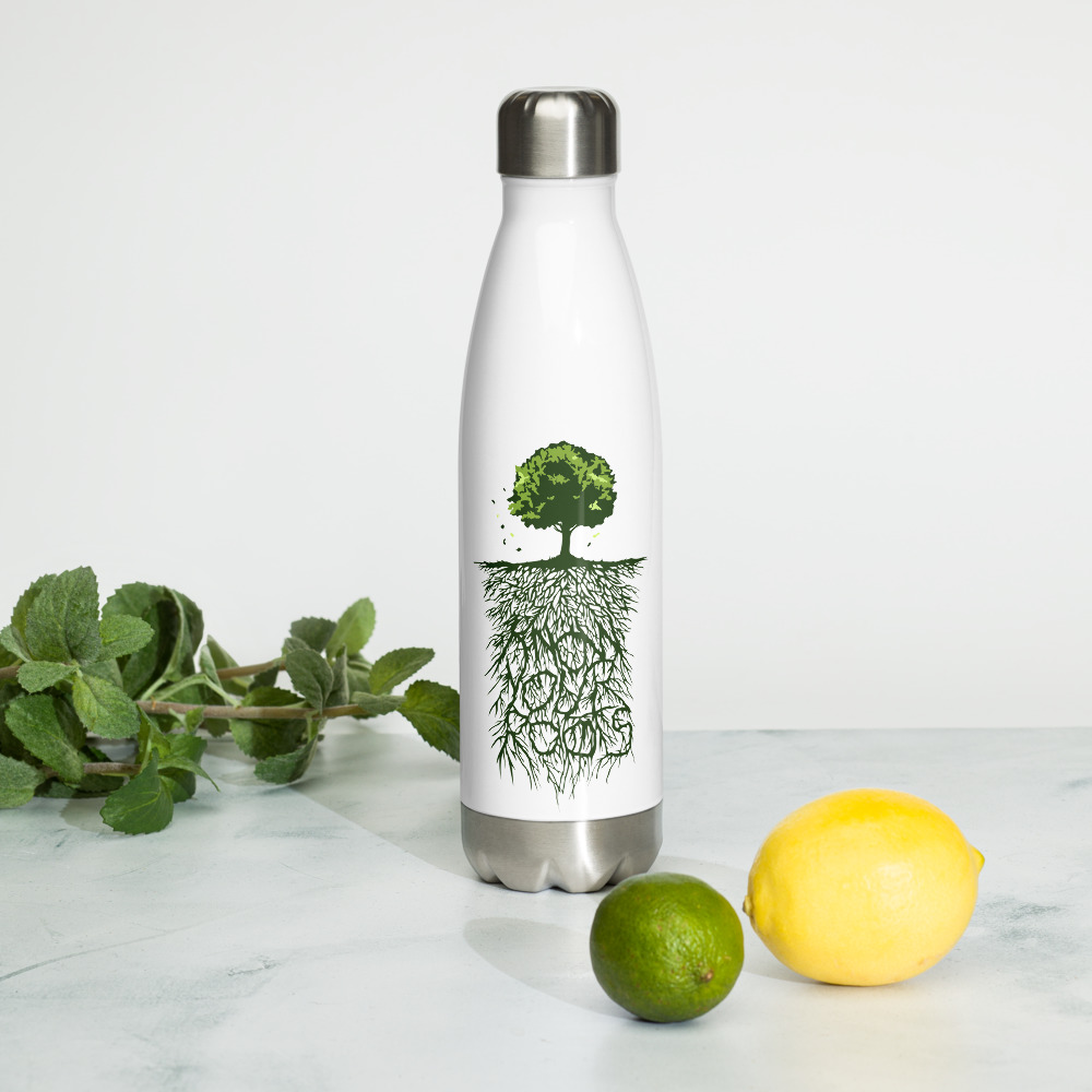 Know Your Roots Stainless Steel Water Bottle – Free Shipping
