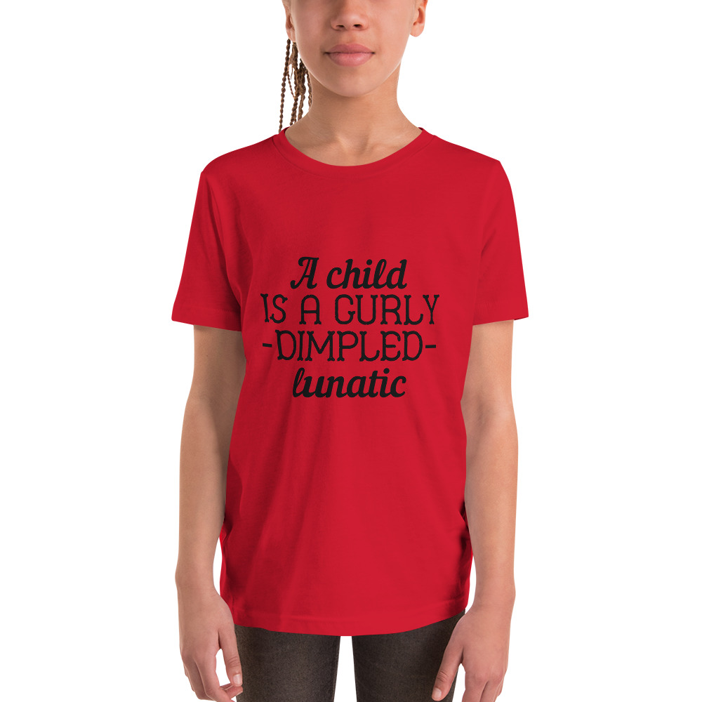 Curly Dimpled Lunatic Youth Short Sleeve T-Shirt – Free Shipping