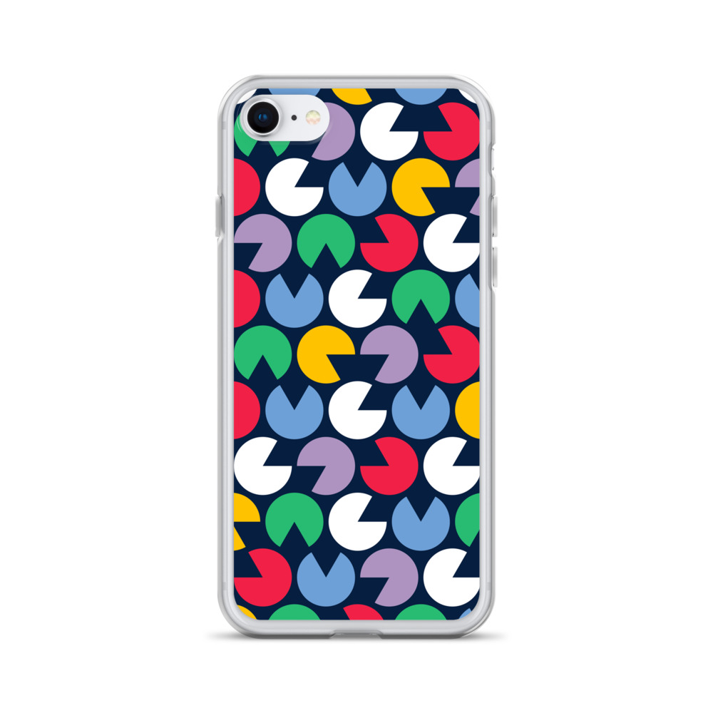 Colorful Pacman iPhone Case – Free Shipping