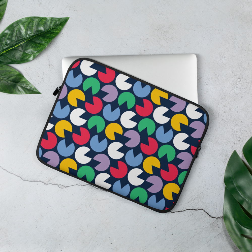 Colorful Pacman Laptop Sleeve – Free Shipping