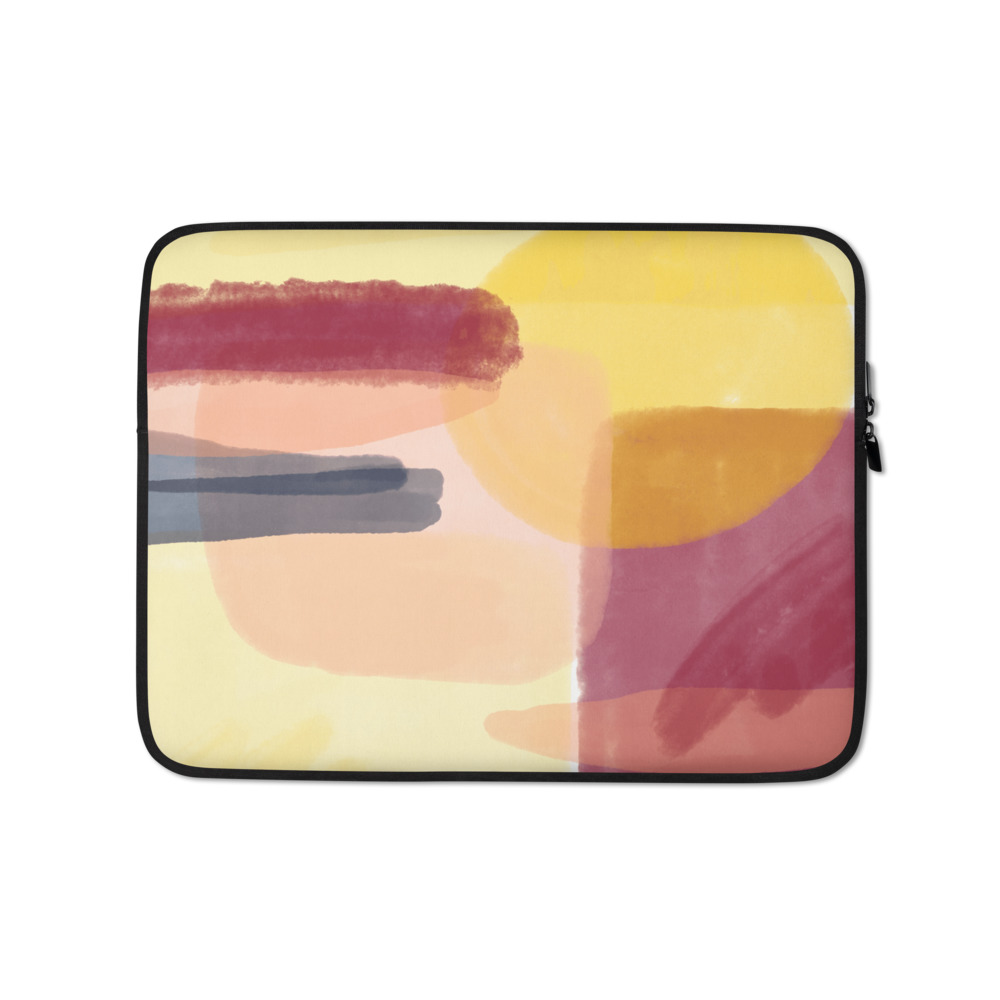 An Abstract Sunrise Laptop Sleeve – Free Shipping