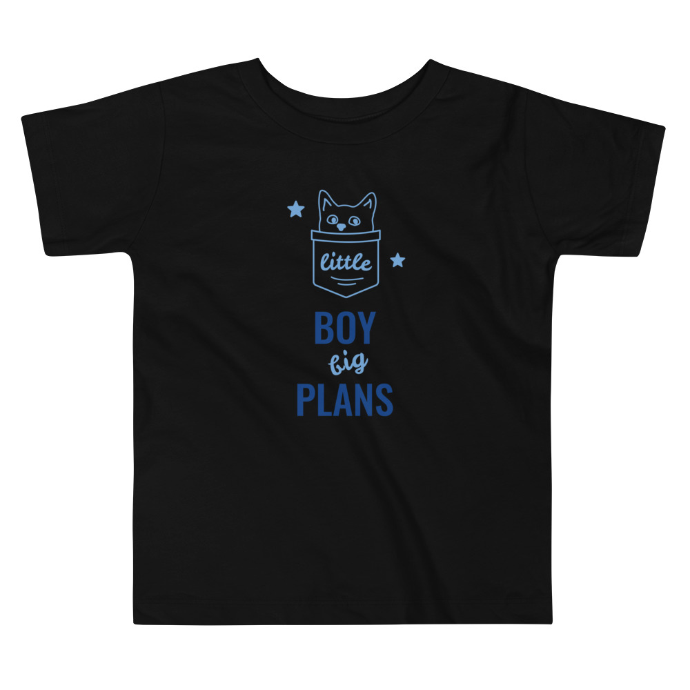 Small Boy Big Plans Toddler Short Sleeve Tee – Free Shipping